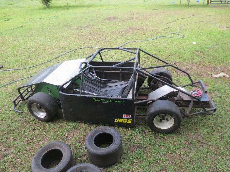 i am selling a mini cup race car it has no body or motor the person that i got it from had a 55hp built vanguard on it so he did some