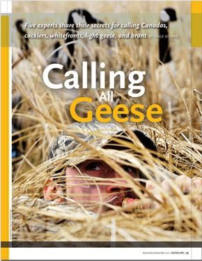 A COMPLETE LISTING OF DU'S DUCK AND GOOSE CALLING TIPS.  IF YOU'RE LOOKING FOR WAYS TO IMPROVE YOUR CALLING THIS SEASON, YOU'VE COME TO THE RIGHT PLACE!
