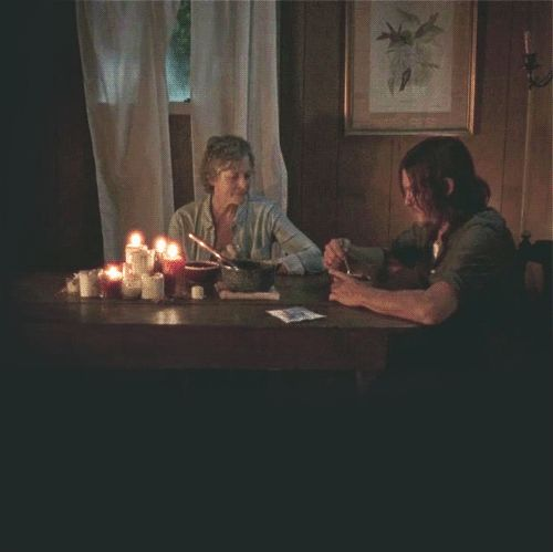 Daryl (Norman Reedus)  finds Carol (Melissa McBride) after following King Ezekiel and his Krew to Carol. Daryl doesn't tell her about Glenn, Abraham or what happened to him with the Saviors. Season 7B Episode 10 'New Best Friends' | The Walking Dead