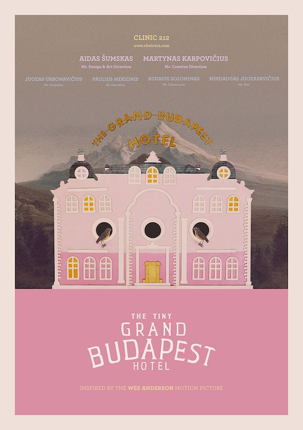 For Lucky Birds: The Very Charming 'Tiny Grand Budapest Hotel' - DesignTAXI.com