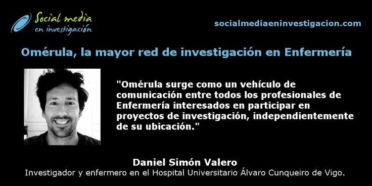 Charla con Daniel Simón Valero sobre Omérula, la mayor red de investigación en Enfermería. #Enfermería #Salud #RedesSociales