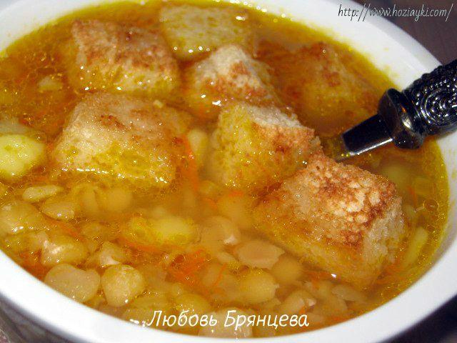 Рецепт: Гороховый суп без мяса (постный стол)