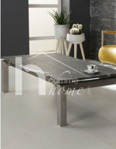 Table basse design en granit et en acier FOX