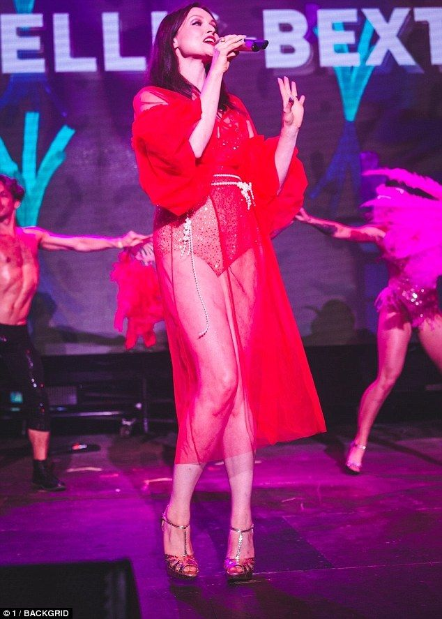 Lady in red! Sophie Ellis-Bextor, 38, put on VERY racy display in lingerie  at the Mighty Hoopla Festival in Victoria Park, London on Sunday
