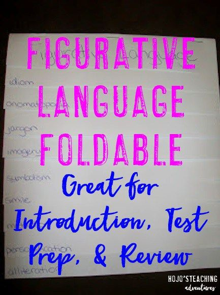 This figurative language foldable is a great way to teach the various types of figurative language terms! Students in 2nd, 3rd, 4th, 5th, and 6th grade will be able to reference this over and over again! Make them for your classroom today! They're great for an introduction lesson, review, or even for test prep!