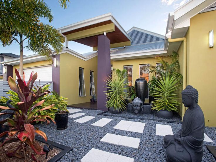 A tropical and oriental inspired garden.