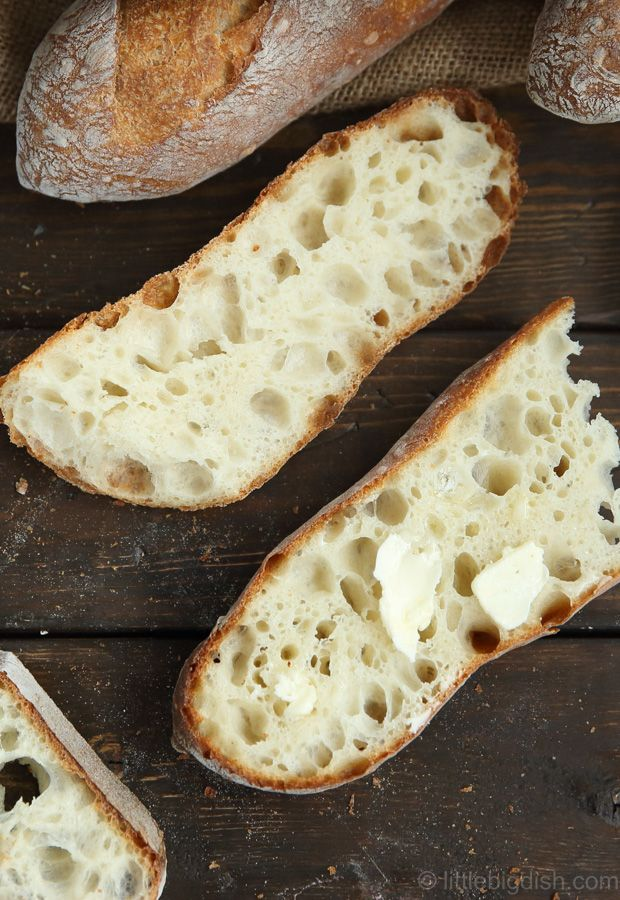 Simple and straightforward, this homemade baguette recipe produces a truly artisan quality, crispy on the outside and soft and chewy on the inside baguette.