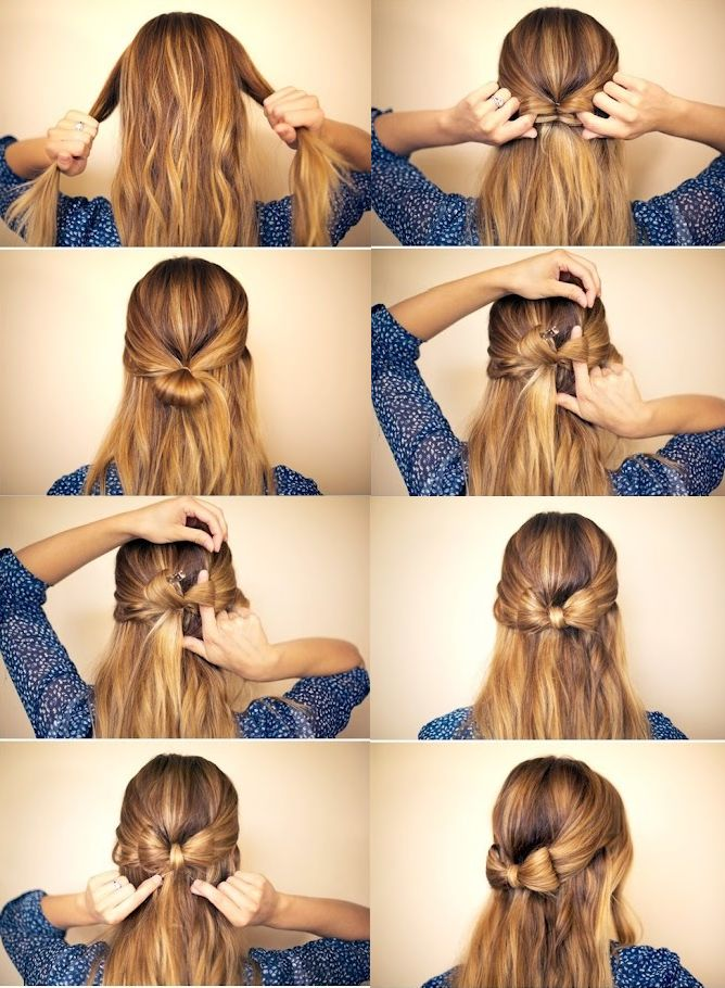 Astounding Bow Hairstyles Step By Step Hairstyles And Bows On Pinterest Short Hairstyles Gunalazisus