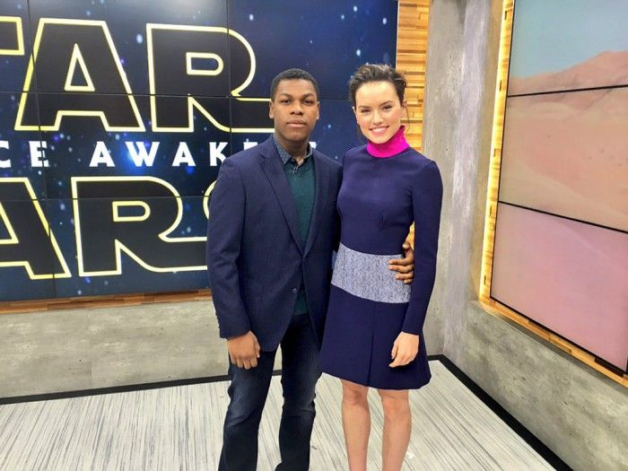 Daisy Ridley and John Boyega on Good Morning America
