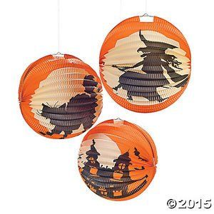 Halloween Silhouette Party Lanterns 6 Pieces 10  Fun Express 33460 ** You can get more details by clicking on the image.