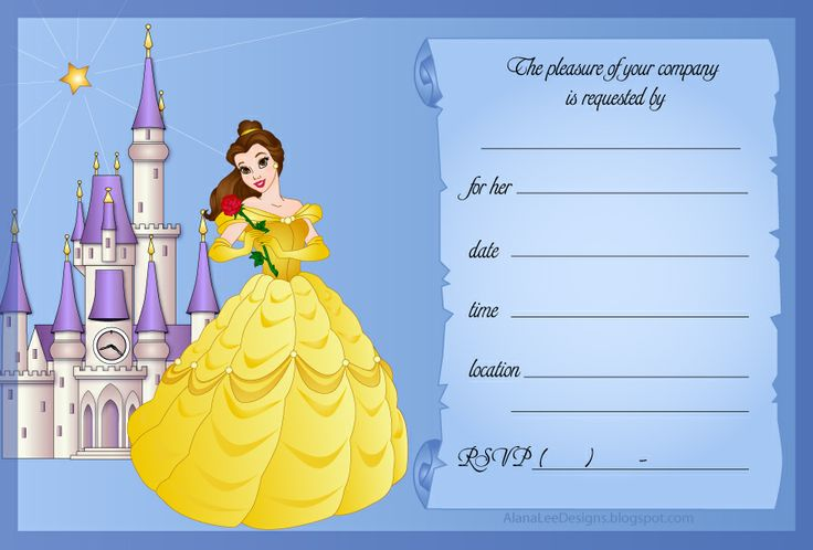 Magic image intended for free printable beauty and the beast birthday invitations
