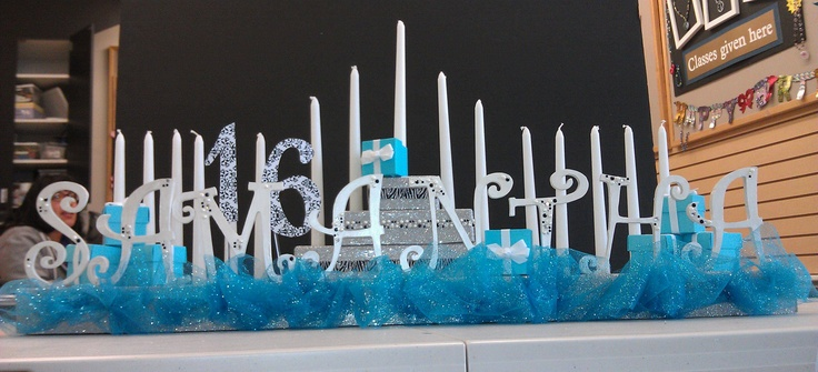 Sweet 16 candle board @ michaels craft, massapequa ny