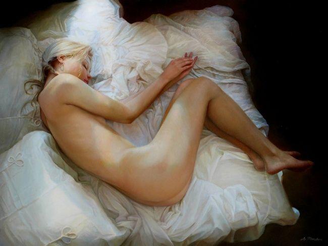 Нежное ню от русского художника-реалиста Сергея Маршенникова