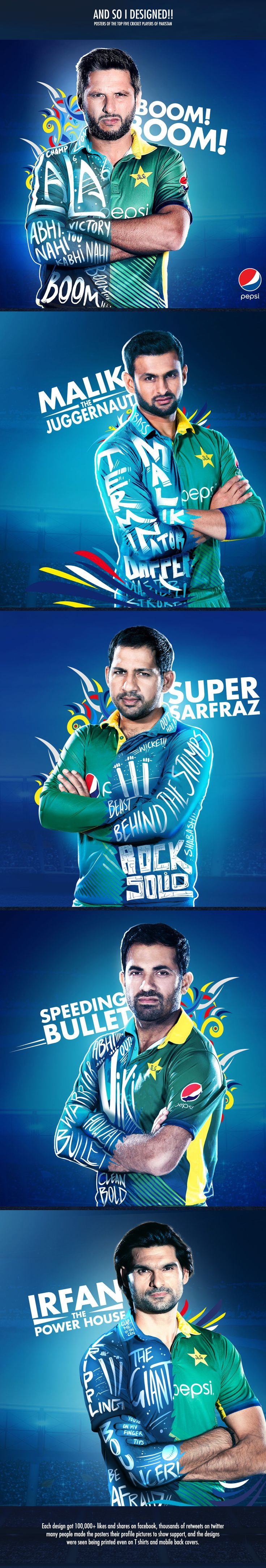 Pepsi Cricket Posters on Behance
