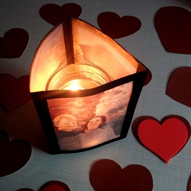DIY: Luminária com fotos para jantar romântico