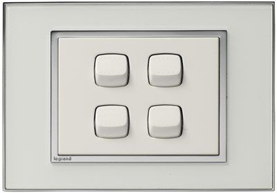 Hamptons White Light Switch and Power Point