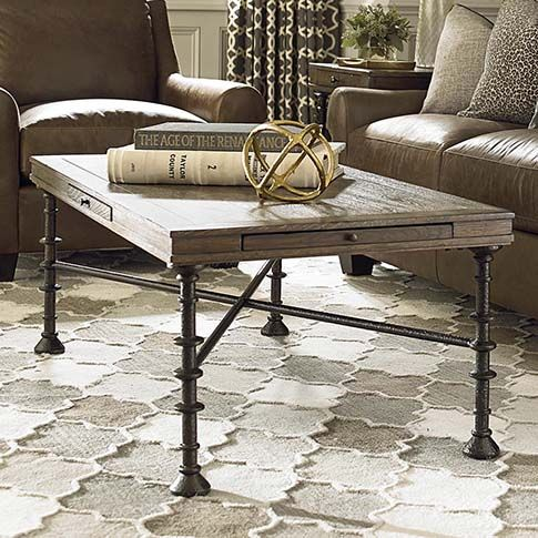 High Quality Canyon Creek Rectangular Cocktail Table By Bassett Furniture