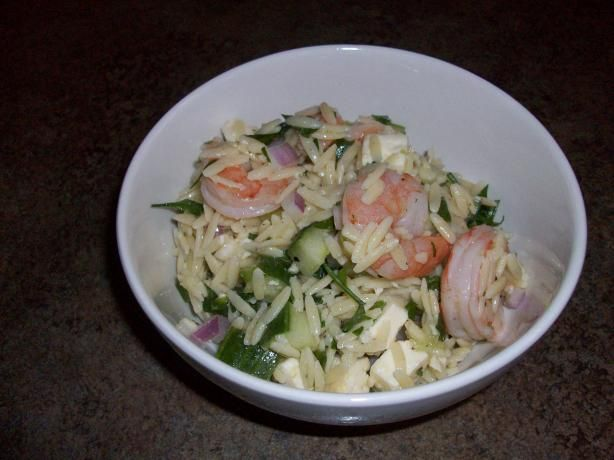 Had a great Shrimp Orzo salad a few weeks back, gonna see if this recipe stacks up.