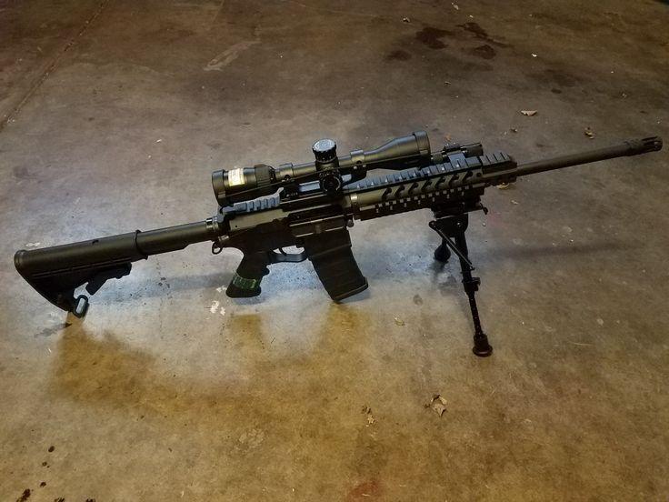 """300 blackout ar-15 build. SWAT firearms billet lower w/300 blackout upper. Heavy barrel and 3""""-6"""" bipod."""