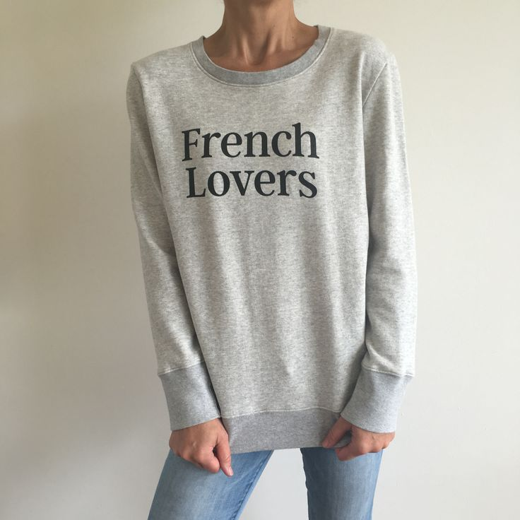 Friday calls for our 'French Lovers' Sweater ❤️ Made with 100% Organic Cotton in the finest french terry, we're having a love affair with this number!✖️