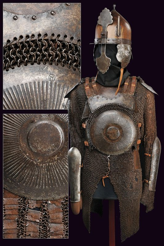 A suite of chain-mail and plate armour: Turkey, 16th Century.