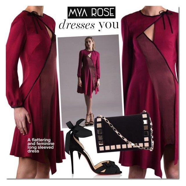 Mya Rose - Estella Dress by mada-malureanu on Polyvore featuring Christian Louboutin, Tomasini, dress, silk, satin, dreamydresses and myarose