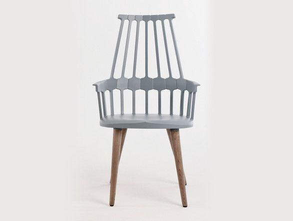 Buy The Kartell Comback Chair With Wooden Legs Online At Nest.co.uk