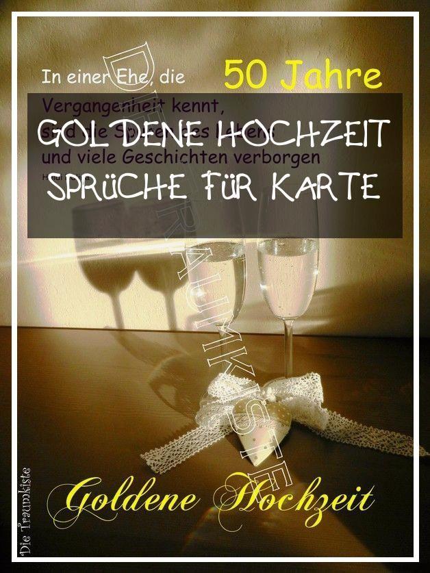 Perfect 17 Goldene Hochzeit Spruche Fur Karte