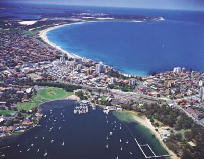 Cronulla beaches.  Where my kids learned to boogie board!