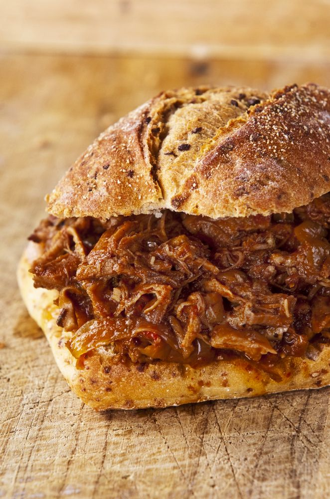 """SHREDDED ELK SANDWICHES! Great slow cooker recipe!  You can use elk or venison for this and the long, slow cook will take away most of the """"gamey"""" flavor creating one of the best pulled meat sandwich around. I recommend serving on an onion bun."""
