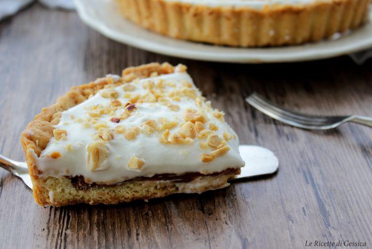 fetta crostata kinder nutella crema al latte e frolla bimby