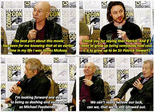 "Older and Younger Professor X and Older Magneto complimenting each other and the absentee Younger Magneto. These men are all ""marvelous""! And yes, I did that pun on purpose."