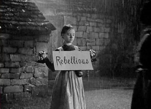 Peggy Ann Garner, Jane Eyre as a Child - Jane Eyre directed by Robert Stevenson (1943) #charlottebronte