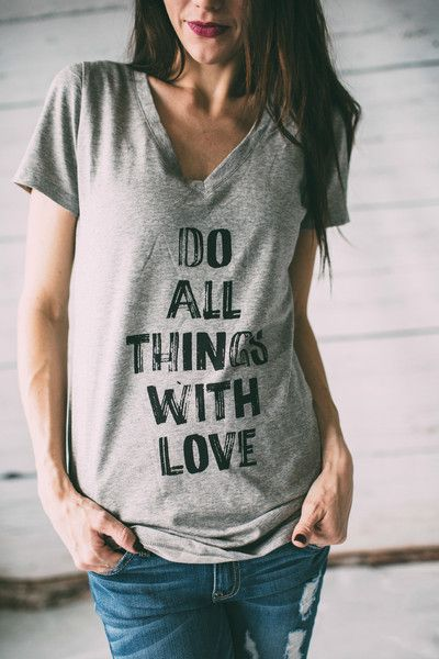 Do All Things With Love - Graphic Tee @mindymaesmarket