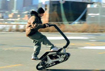 Dtv Shredder A Tracked Skateboard Powered By A Small Go