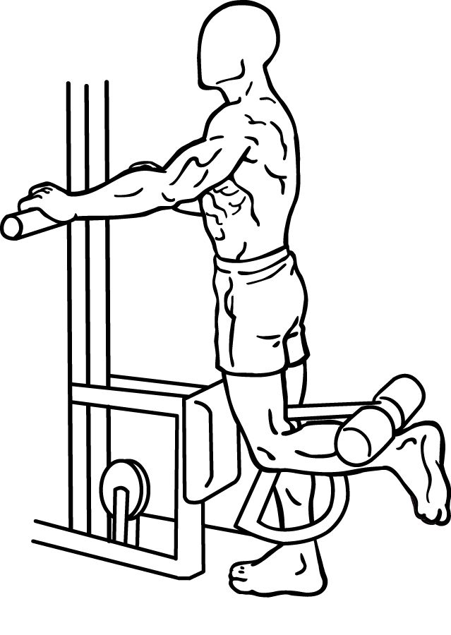 Standing Single Leg Curl Weight Lifting Pinterest