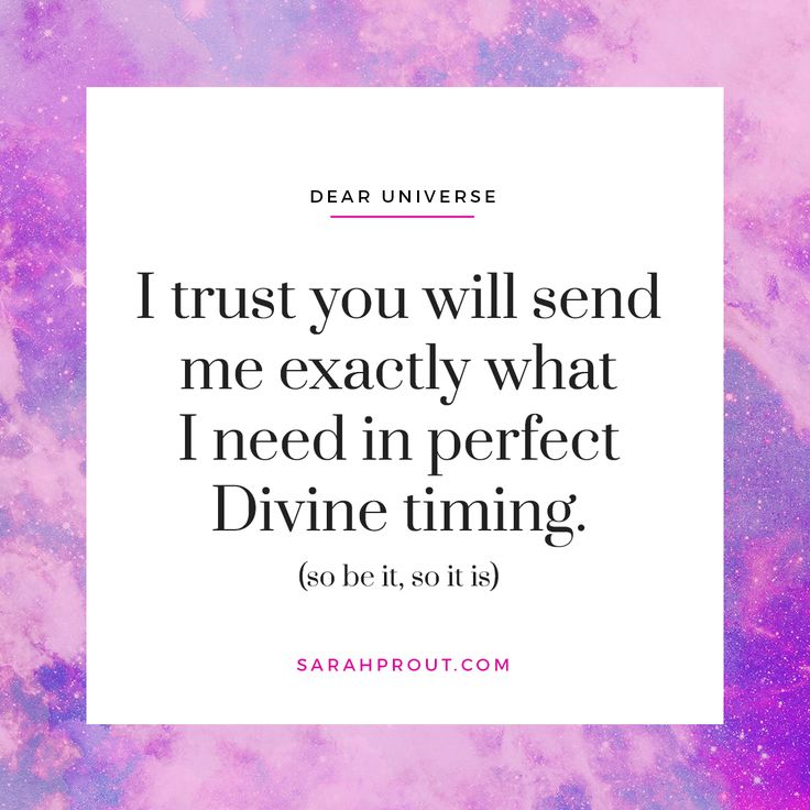 I trust you will send me exactly what I need in perfect Divine timing. (so be it, so it is)