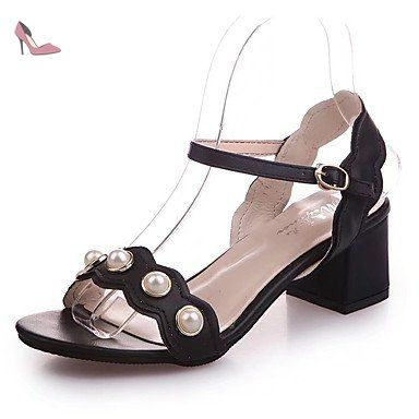RUGAI-UE Summer sandals for women sandals,Golden,Forty-two