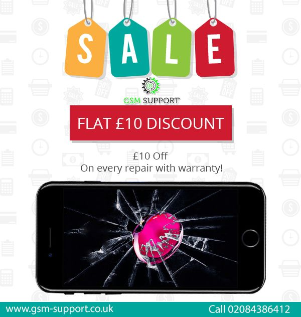 Flat £10 discount on each and every repair.