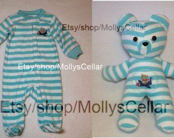 Keepsake bear memory bear keepsake teddy clothing by MollysCellar