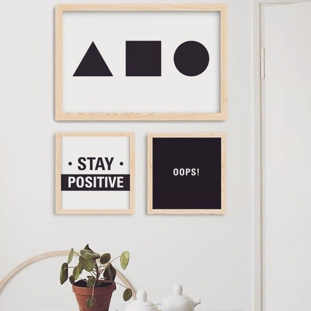 Cuadros decorativos #Matita #Decoracion #Deco #Wall #Art #Interior #Design #Posters #Cuadros #BlancoYNegro #StayPositive