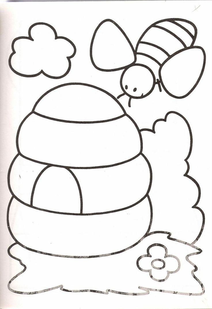 Book worm coloring pages - Coloring Bee Hives