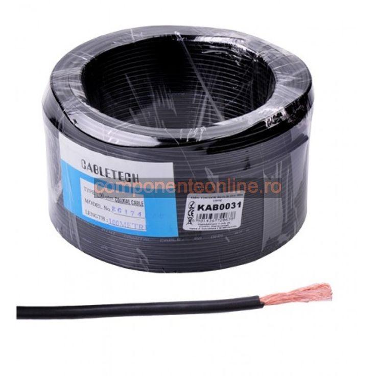 Cablu coaxial, RG174, 50 Ohm, negru - 402275