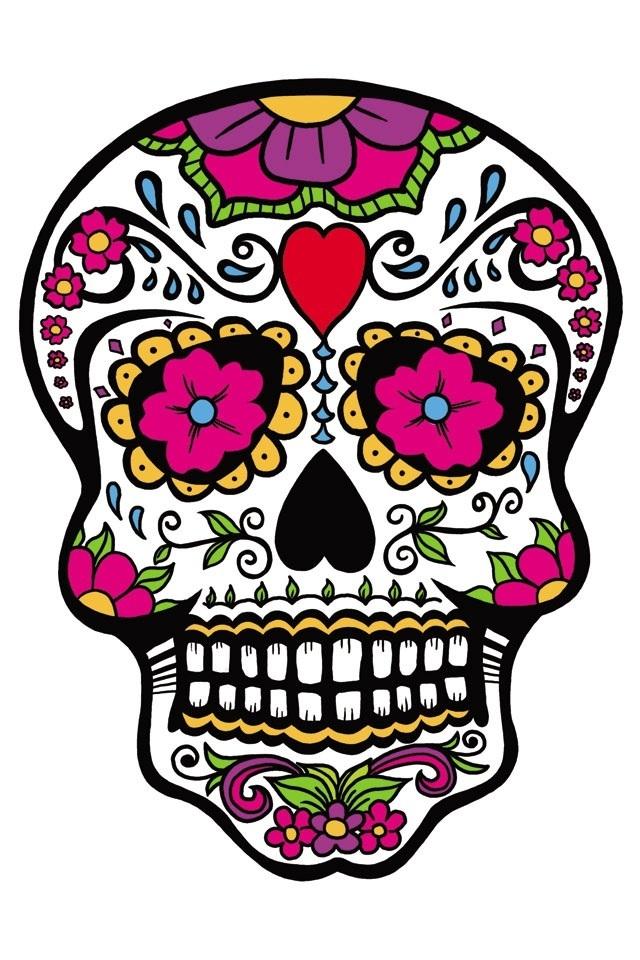 Sugar skull | Hispanic Art Lessons | Pinterest