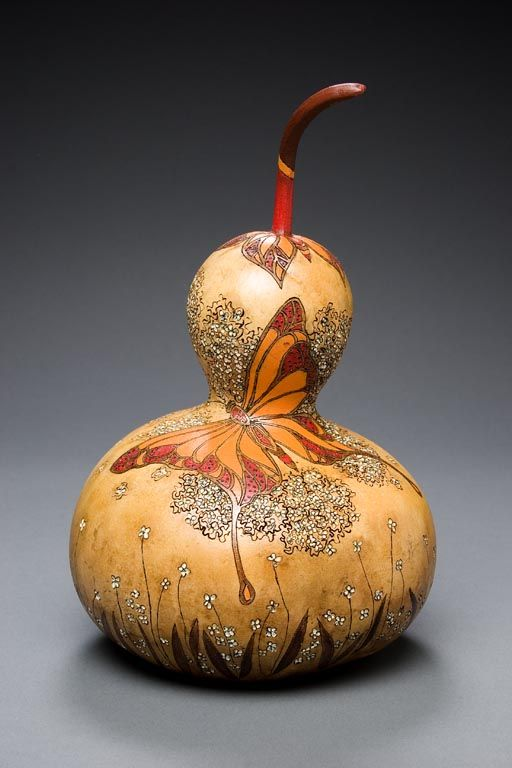 WOW❣ So pretty—amazing workmanship—gourd art, by Utah-based artist &…