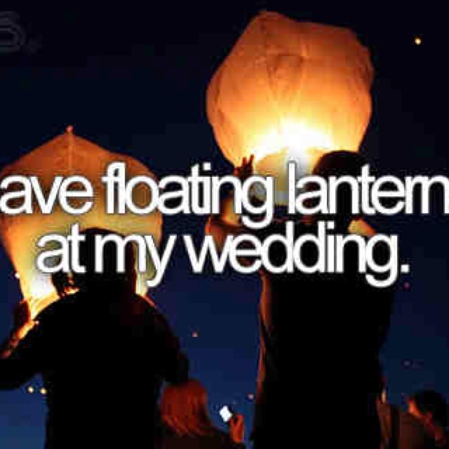 "I want to hang lanterns from the trees for my ""Tangled"" part of the Disney themed wedding hints"