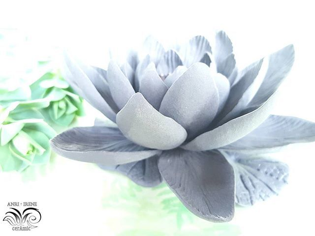 Ceramic lotus. Porcelain, bisque. Handmade.  #firedporcelain #porcelain #porcelainflowers #ceramics #ceramicflowers #ceramiclotus #ceramicart #porcelainflowers #ceramics #porcelainlotus #interiordecor #anriirene #tabledesign #tabledecor #acsessories #porcelainjewelry #clayflowers #instaflower #decor #provence #art #shebby #interiordesign #interiorflowers #interiores #luxury #luxurydesign #lotus #instaflower #kunst #gray #green