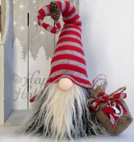 Swedish tomte nordic nisse handmade christmas gnome santa for Gnome 3 decoration fenetre