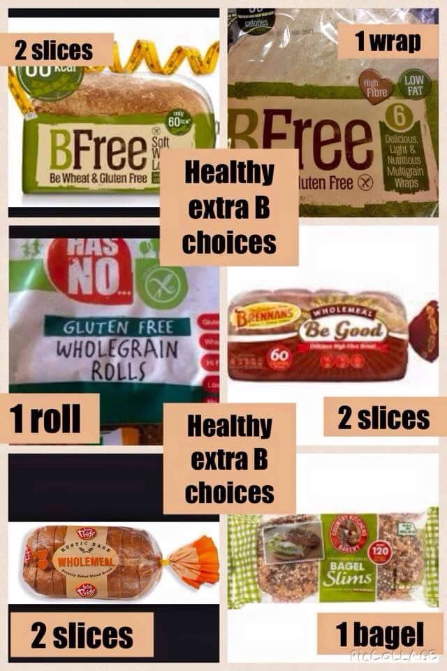 Healthy extra B choices