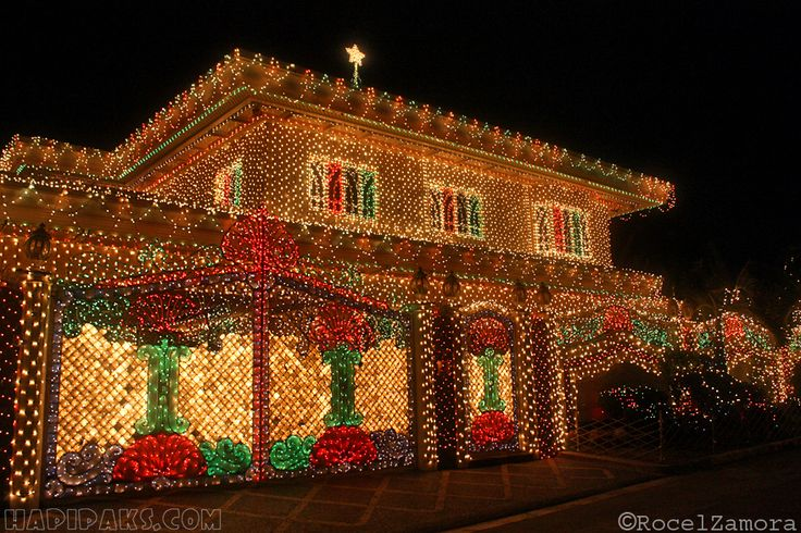 September :Play Filipino Christmas Songs,Decorate Homes and Offices with Christmas Lights and Lanterns.